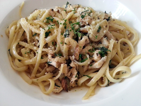chicken herbs linguine