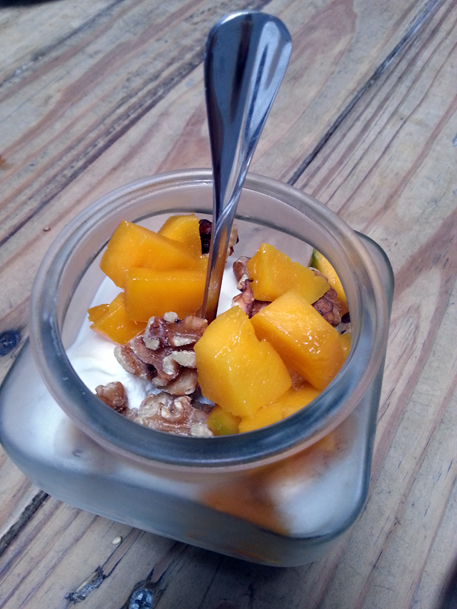 mango and walnut yogurt